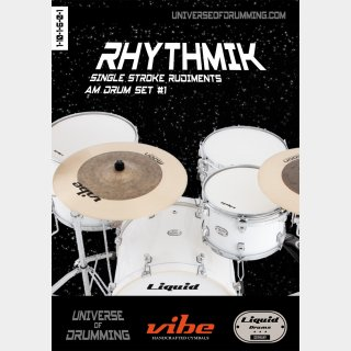 Rhythmik Single Stroke Rudiments am Drum Set #1